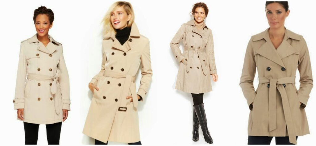 Classic Belted-Trench Coat and Midis